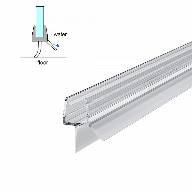TWO FINS SHOWER SEAL FOR 8-10mm GLASS